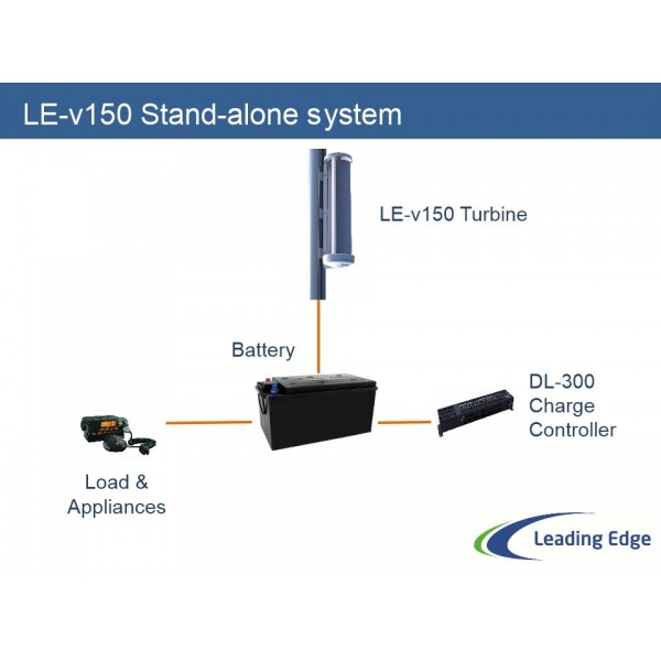 LE-v150 Verticale Windturbine inclusief DL-300 charge controller